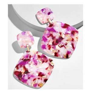 Avida Purple Pink Resin Drop Earrings